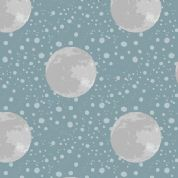 Lewis & Irene To The Moon & Back - 5115 - Moon on Duckegg Blue - A164.1 - Cotton Fabric